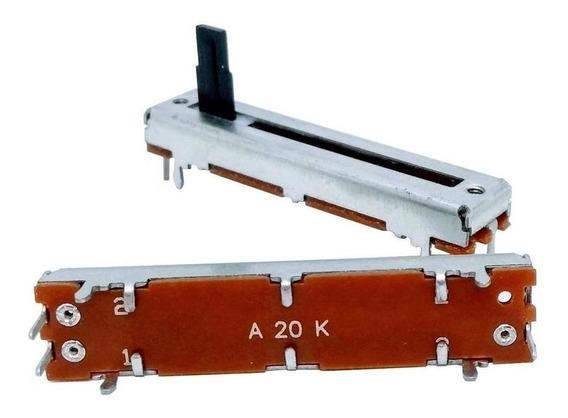 Potenciômetro Deslizante 20k 60mm Percurso 45mm