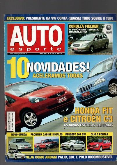 Revista Auto Esporte Honda Fit E Citroen C3 Nº 456 (1061)