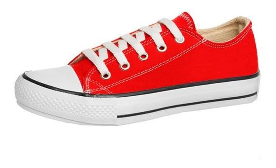 Zapatillas Sneakers Colours Lona Bajas O Con Plataforma