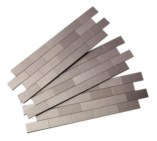 Ladrillos, Mosaicos, Acero Inox, Autoadhesiva Fabricante