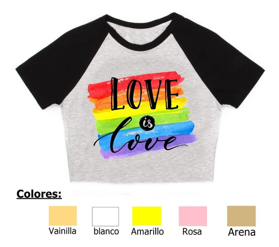 Remera Frases Love Is Love Pupera