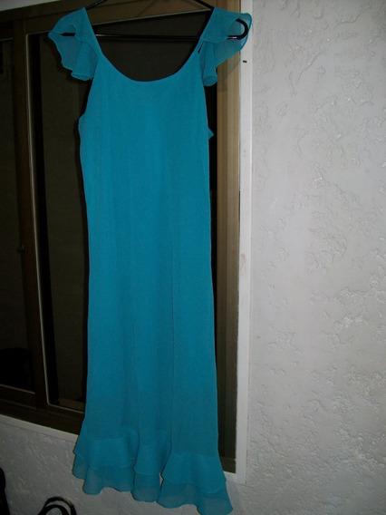 Vestido Azul Turquesa Talla L