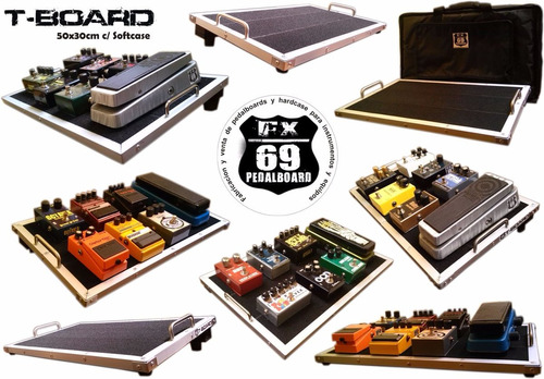 Pedalboard T-board 50x30cm (mxr Boss Ibanez Eh Guitarra)