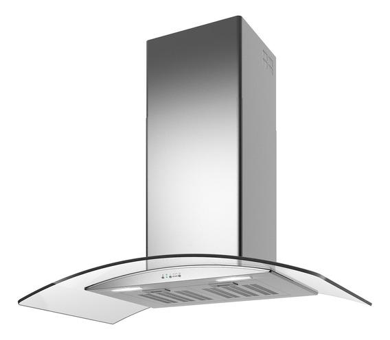 Extractor purificador cocina TST Lacar ac. inox. y vidrio isla 500mm x 900mm plateado 220V