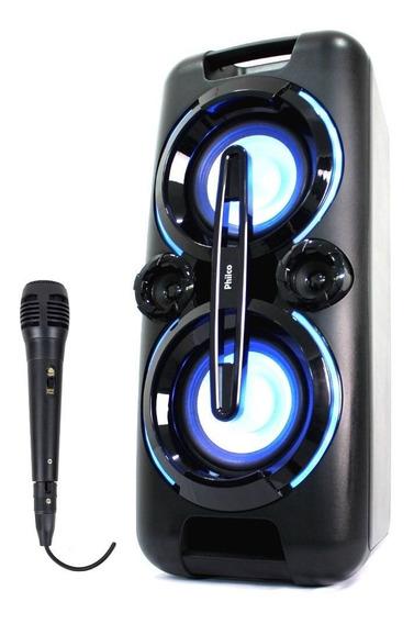 Caixa De Som Potente Subwoofer Philco Pcx5001n Com Microfone