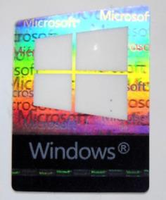 Kit Adesivos Originais Windows 10 E Core I7 6ª 7ª 8ª Geração