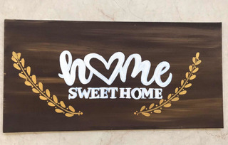 Cuadro Decorativo Con Frase Home Sweet Home