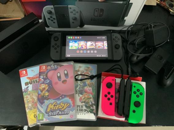 Nintendo Switch Usado + 10 Jogos