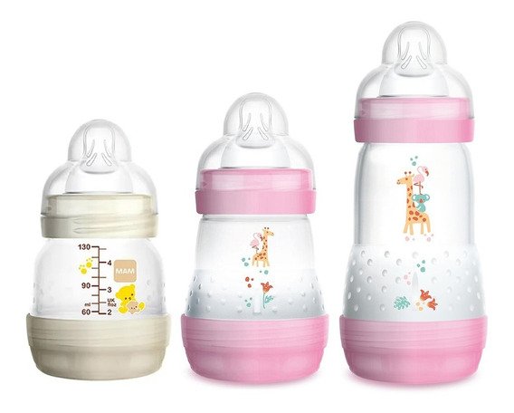 03 Mamadeiras Mam First Bottle 130ml, 160ml E 260ml