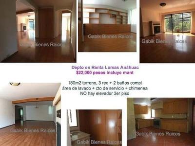 Departamento En Renta Cerca De La Univ Anahuac