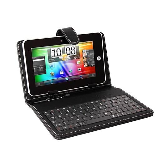 Estuche Con Teclado Tablet 8'' Funda Protector 23x16,5cm