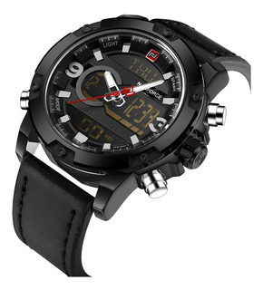 Reloj Naviforce Nf9097 Multifunción Calidad Estilo Cuero