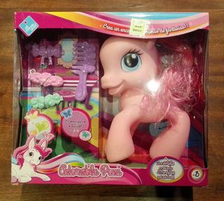 Pequeño Pony Con Accesorios Adorable Poni El Duende Azul