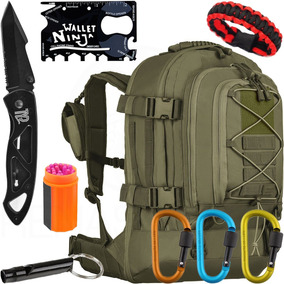 Kit Mochila Duster 50l Invictus + Canivete + Acessórios