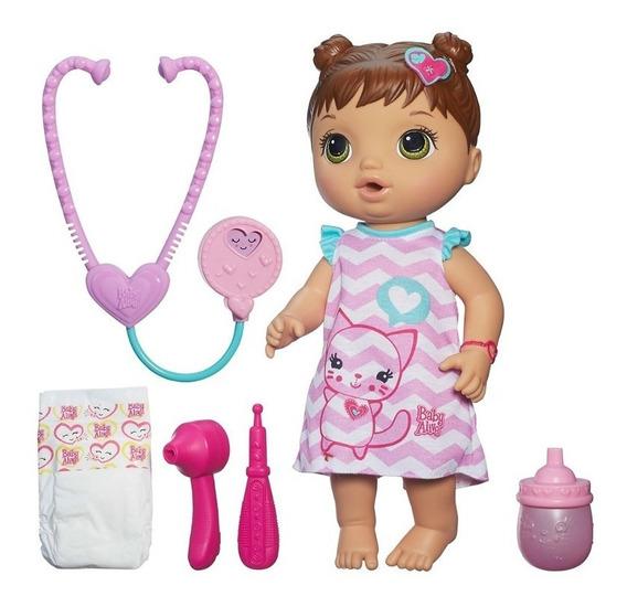 Nova Boneca Hasbro Baby Alive Cuida De Mim Morena B5159