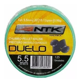 Chumbinho Para Carabina Pressão Nautika Duelo 5.5mm 125un.