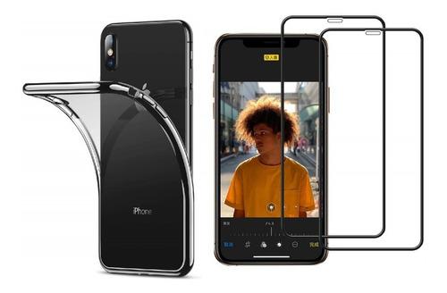 2 Películas 5d Nano Gel + Capa Transparente P/ Todos Iphones
