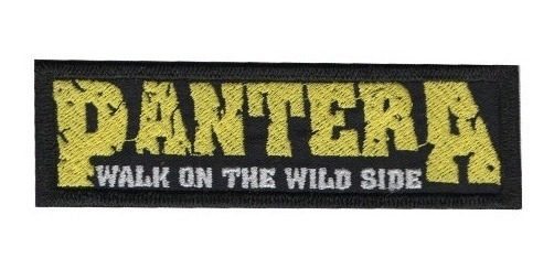 Patch Bordado P/ Casaco Jeans Camiseta Banda Rock Pantera