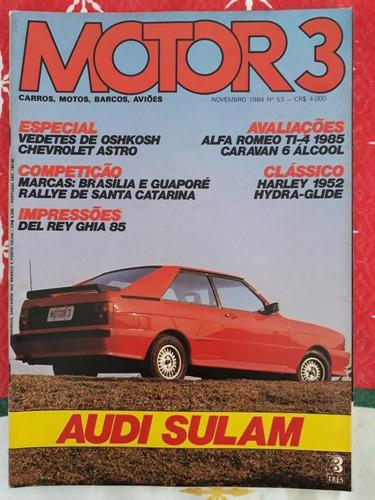 Revista Motor 3 Audi Passat Sulam Harley 52 Alfa Ti Oshkosh