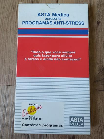 Fita Vhs Antiga Programa Anti- Stress - Medicina Saúde