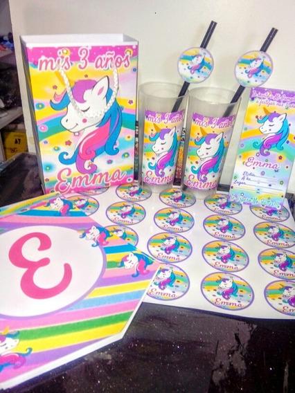 Promo Cotillón Unicornio Personalizado Para 30 Niños