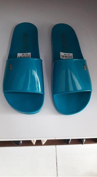 Sandália Rasteira Santa Lolla Azul