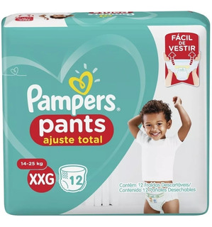 Pampers Pants Ajuste Total Talle Xxg 14 A 23 Kg X 36 Pañales