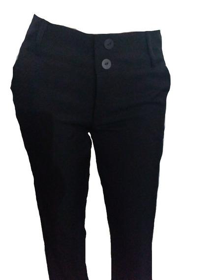 Pantalón De Vestir Para Dama Bota Recta Negro