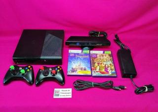 Consola Xbox 360 Con 2 Controles 1 Kinect Y 3 Juegos