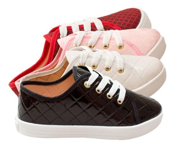 3 Pares Tênis Infantil Feminino Moda Menina Criança Sapato Casual Escolar Confortável Calçados Online Atacado Promoção