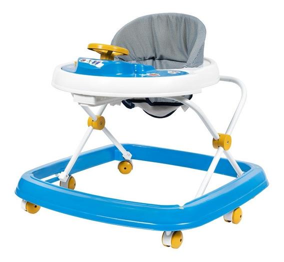 Andador Infantil Bebê Musical Styll Baby Azul E Branco