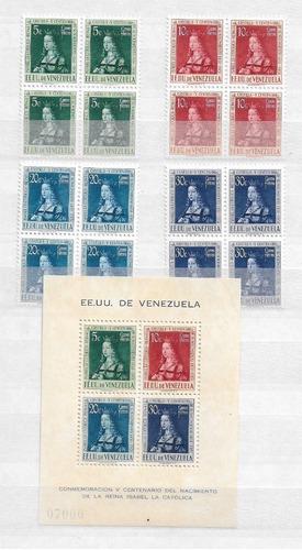 Imagen 1 de 1 de 1951. Venezuela Estampillas ,,isabel La Catolica  Bloque