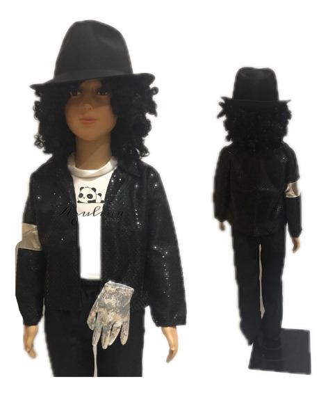 Traje Tipo Michael Jackson Con Sombrero Para Niño