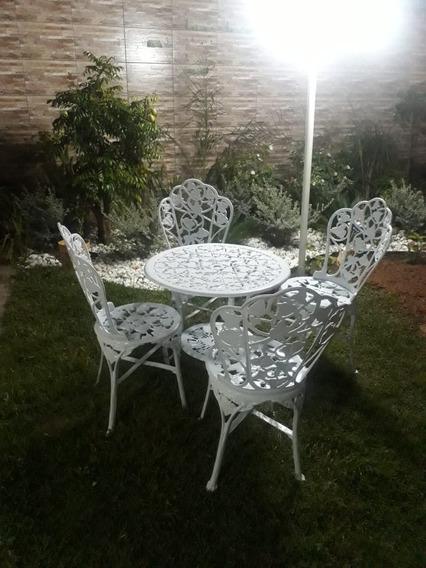 Jogo 4 Cadeiras 1 Mesa Grande Para Jardim Para Casa Hera