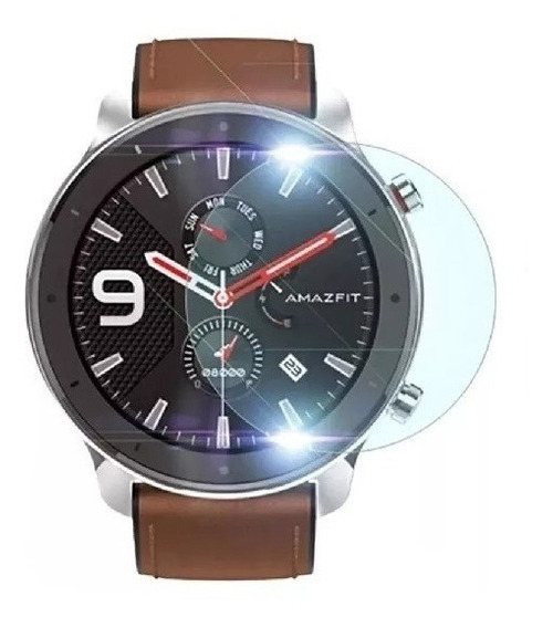 2x | Película De Vidro Temperado Relógio Xiaomi Amazfit Gtr