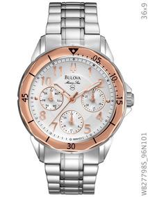 Relógio Bulova Prata E Rosé Wb27798s