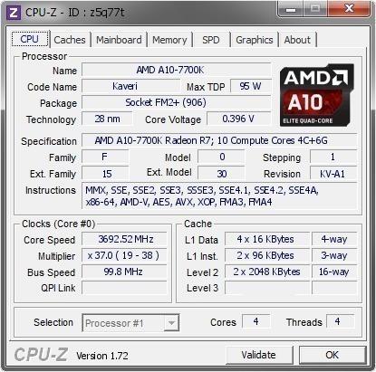 Processador Amd A10 7700k Quad Core