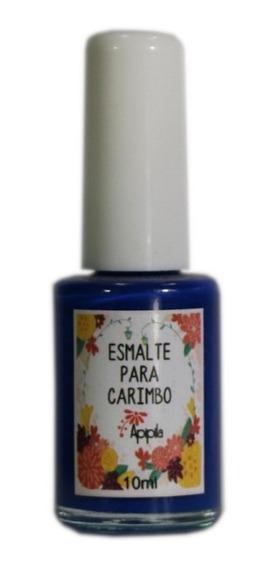 Esmalte Para Carimbo De Unhas Apipila Azul