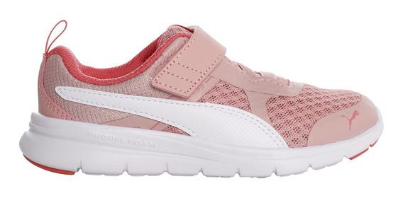 Zapatillas Puma Moda Flex Essential V Ps Niña Rv/bl