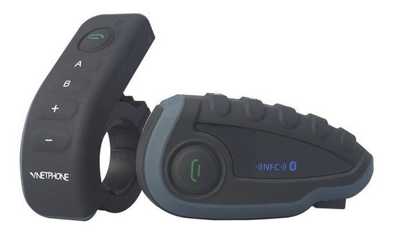 Comunicador Capacete V8 1200m Bluetooth Duplex 1pç À Vista