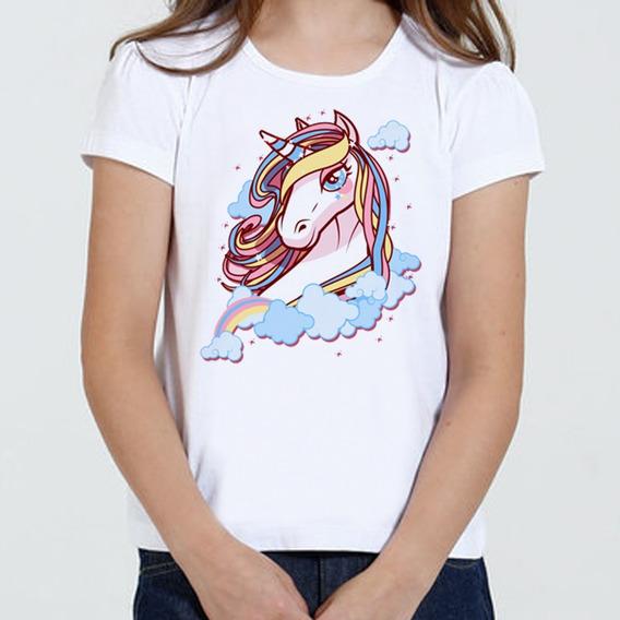 Camiseta Camisa Infantil Feminina - Unicornio Desenho