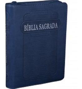 Bíblia Sagrada Letra Grande Couro Sintét Com Zíper E Índice