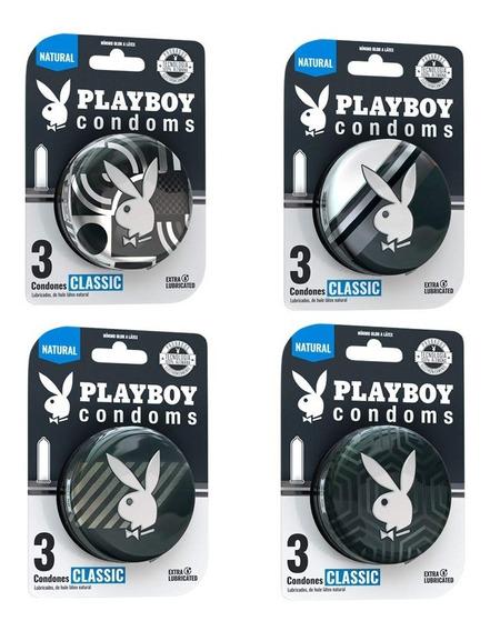 Playboy Condoms 12 Condones Clásico Colección 2020