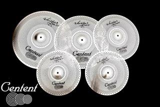 Set Platillos Centent Rvc Silver 14-16-18-20+ Funda Vmusic