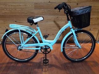 Bicicleta Para Chicas Roller Cicletta Rodado 24 Con Canasto