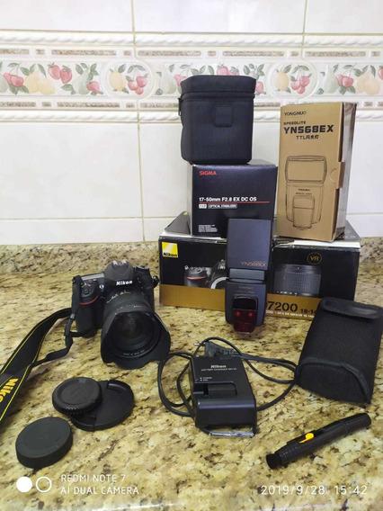 Kit Fotógrafo Profissional Câmera Nikon D7200
