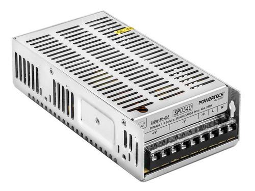 Imagen 1 de 10 de Fuente Switching 5v Powertech Sp0540 40a 250w Tiras Pixel