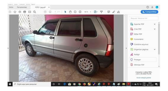 Fiat Uno Mille, 1,0, 04 Portas, Cinza - 2006