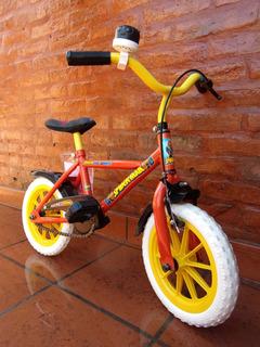 $3440 En Mano. Bicicleta R12. Spiderman Hombre Araña. Usada