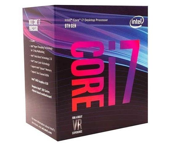 Processador Intel Core I7 8700 Lga1151 4,6ghz Max Turbo 12mb